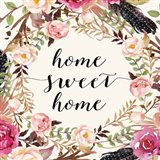 Home Sweet Home - Sq. Art Print