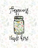 Happiness Made Here Art Print