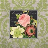 Damask Bouquet Art Print