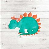 Water Color Dino II Art Print