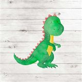 Water Color Dino IV Art Print