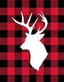 Deer Lumberjack Art Print