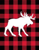 Moose Lumberjack Art Print