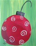Red Ornament Art Print