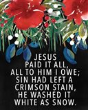 Jesus Paid It All Art Print