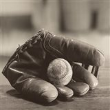 Ball in Mitt Art Print
