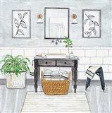 Upstate Farmhouse Bath I Art Print