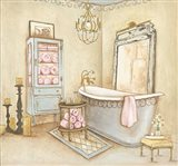 French Modern Bath I Art Print