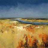 Sunlit Fields Art Print