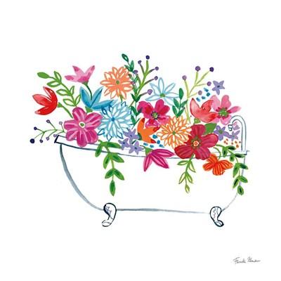 Floral Bathroom I