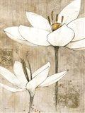 Pencil Floral I Art Print
