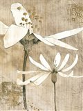 Pencil Floral II Art Print