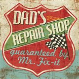 Mancave IV - Dads Repair Shop Art Print