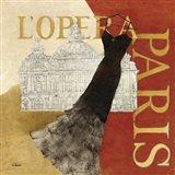 Paris Dress - L' Opera Art Print