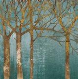 Golden Day Turquoise Art Print