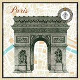 Monuments des Paris Arc Art Print