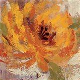 Fiery Dahlias I Crop Art Print