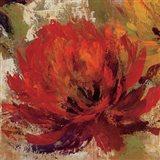 Fiery Dahlias II Crop Art Print