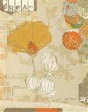 Collaged Botanicals II Art Print