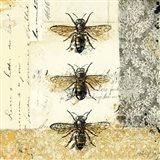 Golden Bees n Butterflies No. 1 Art Print