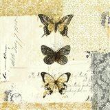Golden Bees n Butterflies No. 2 Art Print