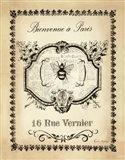 Paris Bees I Art Print