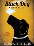 Black Dog Coffee Co Seattle Art Print