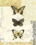 Golden Bees n Butterflies No 2 Art Print