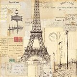 Paris Collage II Art Print