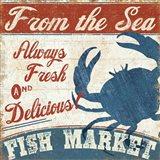 Fresh Seafood IV Art Print