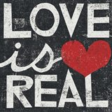 Love Is Real Grunge Square Art Print