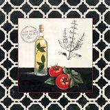 Basil and Tomatoes Art Print