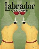 Two Labrador Wine Dogs Art Print