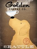 Golden Coffee Co Art Print