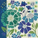 Blue Garden I Art Print
