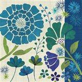 Blue Garden II Art Print