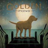 Moonrise Yellow Dog Art Print