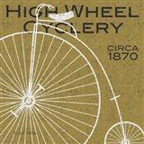 High Wheel Cyclery Art Print