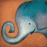 Elephant WOW Art Print