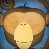 Monkey WOW Art Print