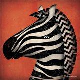 Zebra WOW Art Print