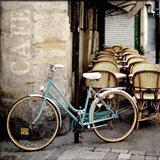 Cafe Bicycle Art Print