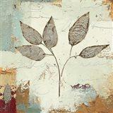 Silver Leaves III Art Print