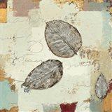 Silver Leaves IV Art Print