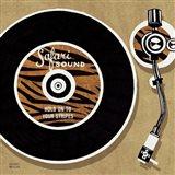 Analog Jungle Record Player Art Print