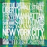 New York City Life Patterns I Art Print