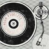 Vintage Analog Record Player Art Print