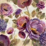 Blue and Purple Flower Song II Art Print