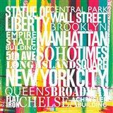 New York City Life Patterns VII Art Print