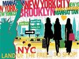New York City Life III Art Print